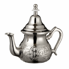 Moroccan Silver Teapot Integrated Filter & Handle Cover Engraved  Design SMALL 350 ml